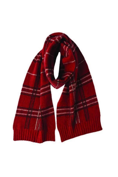 Red Possum Merino Broad Check Scarf