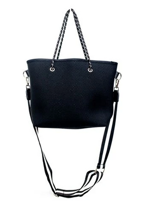 Black Neoprene Mini Tote Bag