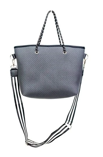 Charcoal Neoprene Mini Tote Bag