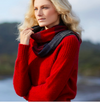 Possum Merino Yoke Neck Cable Jumper (7 Colours Available) Xs / Red Possum Merino