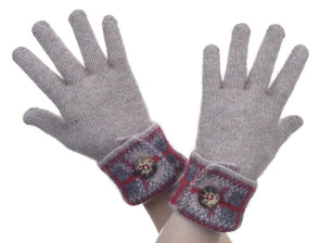 Mocha Possum Merino Tartan Glove Possum Accessories