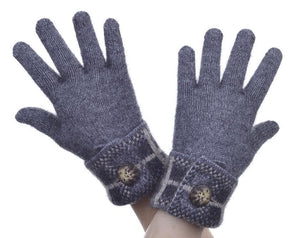 Pewter Possum Merino Tartan Glove Possum Accessories