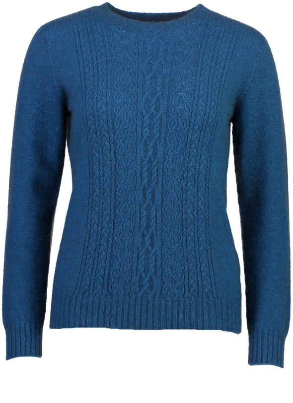 Teal - Possum Fur Crew Jumper Possum Merino