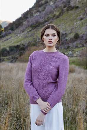 Heather - Possum Fur Crew Jumper Possum Merino