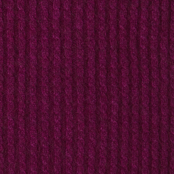 Possum Merino Yoke Neck Cable Jumper (7 Colours Available) Xs / Berry Possum Merino