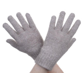 Mocha Possum Fur Full Finger Gloves