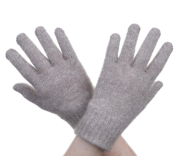 Mocha Possum Fur Full Finger Gloves Possum Accessories