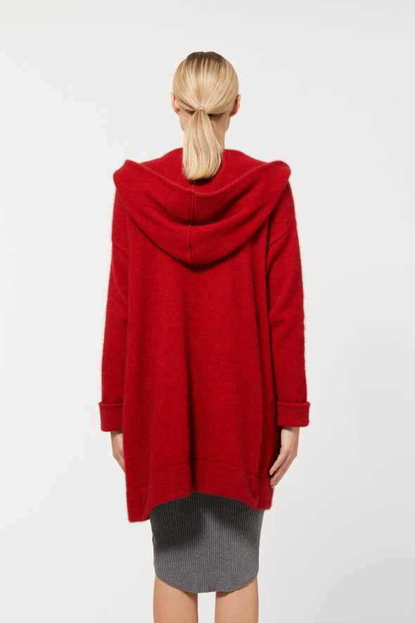 Red Possum Merino Oversize Hood Jacket