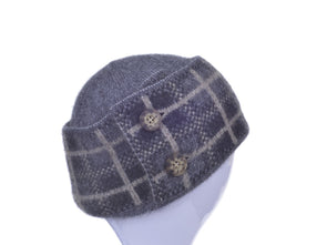 Pewter Possum Merino Tartan Hat Possum Accessories