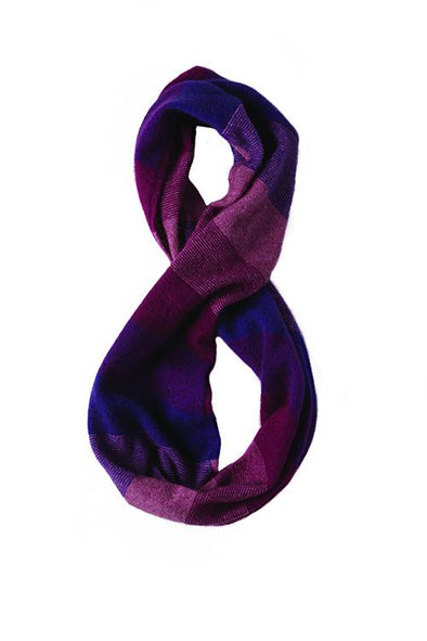 Berry Possum Merino Silk Ombre Snood Possum Accessories