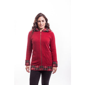 Red Tartan Jacket with Hood