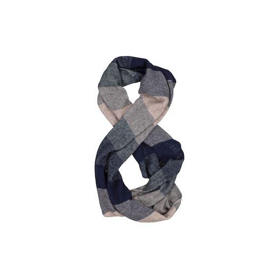 Navy Possum Merino Silk Ombre Snood