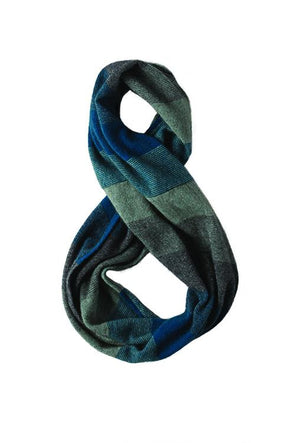 Teal Possum Merino Silk Ombre Snood