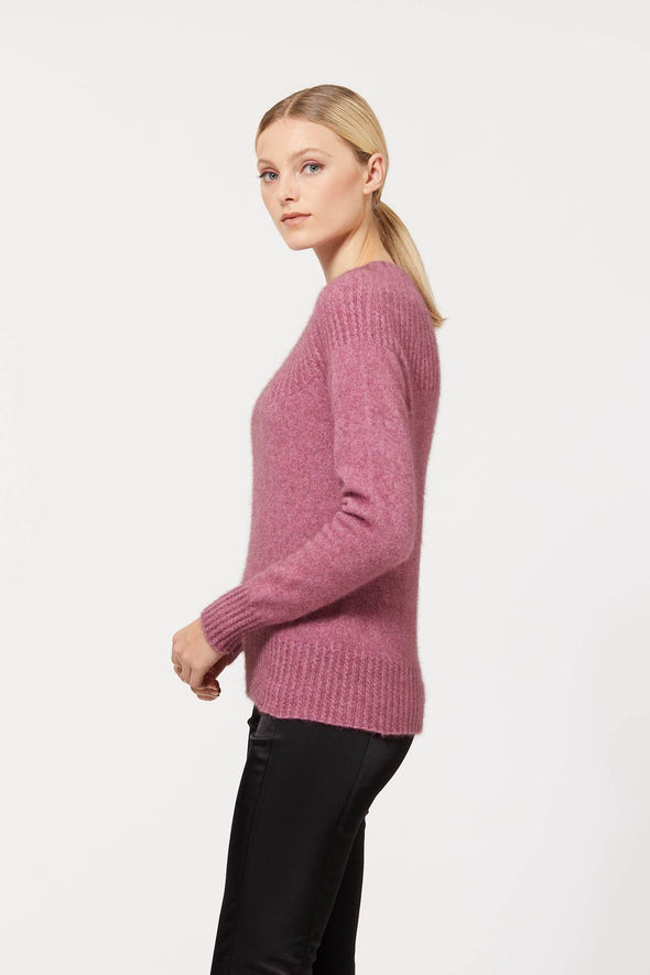 Possum Merino Yoke Neck Cable Jumper (7 Colours Available) Possum Merino