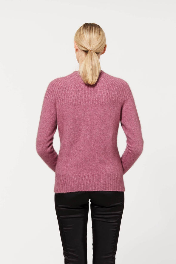 Possum Merino Yoke Neck Cable Jumper (7 Colours Available)