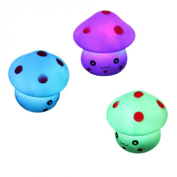 Multicolor LED Mushroom Toy