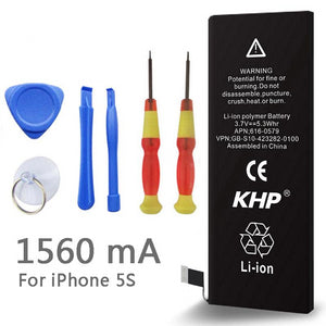 2019 New 100% Original KHP Phone Battery For iphone 5S Real Capacity 1560mAh With Machine Tools Kit Mobile Batteries 0 Cycle - Amzon World