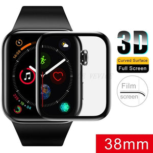 3D Tempered Glass For Apple Watch 38mm 42mm 40mm 44mm Series 4 3 2 1 Full Cover Curved  Edge Screen Protector For iWatch 9H HD - Amzon World