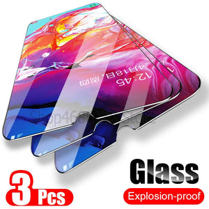 3PCS Tempered Glass For Samsung Galaxy A50 A30 Screen Protector Glass For Samsung Galaxy M20 M30 A20 A20E A40 A80 A70 A60 Glass - Amzon World