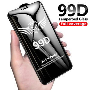 99D protective glass for iPhone 6 6S 7 8 plus X XR XS MAX glass on iphone 7 6 X screen protector iPhone 7 plus screen protection - Amzon World