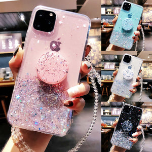 Bling Glitter Case For iPhone 11 Pro Max 11 Pro 11 XS XR X XS Max 6s 6 7 8  PlusSlim Case With Stand Holder Phone Cases Socket - Amzon World