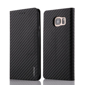 Classy Magnetic Flip Wallet Case For Samsung Galaxy S20 Ultra S5 NEO S6 S7 edge Carbon Fiber Leather Cover S10 S9 S8 Plus Soft - Amzon World