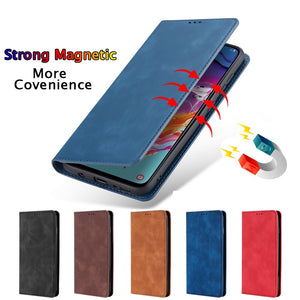 For Samsung Galaxy A01 Case Luxury Flip PU Leather Wallet Magnetic Adsorption Case For Samsung A01 A 01 A015F SM-A015F Phone Bag - Amzon World