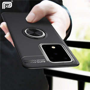 For Samsung Galaxy S20 Plus Case Metal Finger Ring Holder Soft Silicone TPU Cover For Samsung Galaxy S20 Ultra Coques - Amzon World