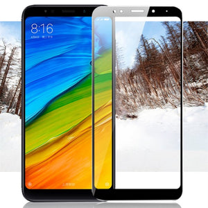 For Xiaomi redmi 5 plus glass redmi5 screen protector full cover white and black protect film For xiaomi redmi 5 tempered glass - Amzon World