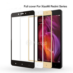 Full Cover Tempered Glass For Xiaomi Redmi 4X 4A 3s For Redmi Note 5A prime 5plus 3X Note 4 3 4X Screen Protector Toughened Film - Amzon World
