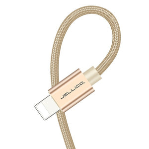 Jellico 3.1A Fast Charging USB Cable For iPhone XS Max XR X 8 7 6 6S 5 5S iPad Cord Mobile Phone Cable Fast Data Charging cable - Amzon World
