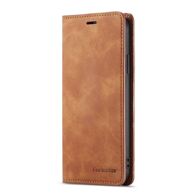 Leather wallet Phone Case For Samsung Galaxy S8 S9 S10 Plus S10 e A10 A20 A30 A40 A50 A60 A70 A80 A90 Cover Flip Case Coque etui - Amzon World