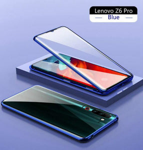 Magnetic Adsorption Case for Lenovo Z6 Pro Shockproof 360 Metal Frame Double Sided Tempered Glass Cover for Lenovo Z6 Pro Cases - Amzon World