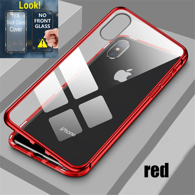 Magnetic Attraction Case For iPhone 11 X Xr Xs Max 6 6s 7 8 Plus Shockproof Case For iPhone 11 Pro Max Tempered Glass Back Cover