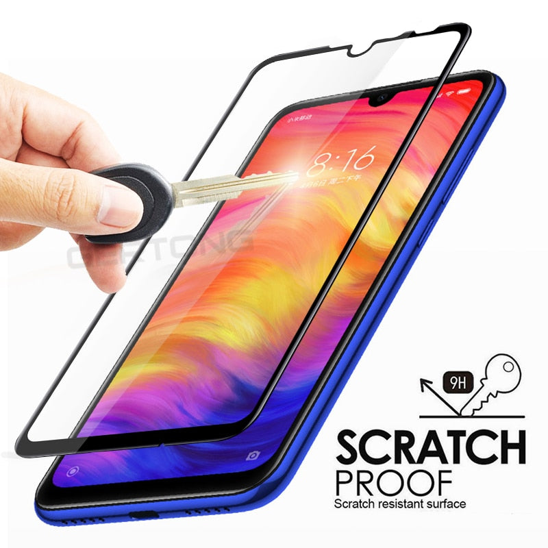 Screen Protector Tempered Glass For Xiaomi Redmi 7 Note 7 Pro Full Cover Front Film Toughened Glass For Xiaomi Redmi 7 Case - Amzon World