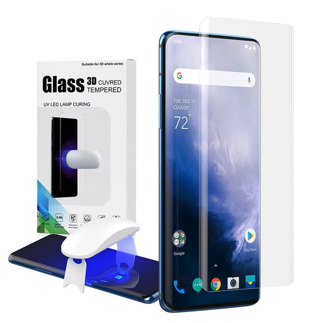 Screen Protector with fingerprint unlock for Oneplus 7 Pro UV - Amzon World