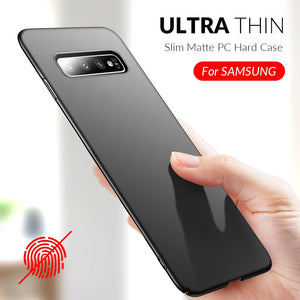 Slim Phone Case For Samsung Galaxy S10 S9 S8 Plus A50 A7 2018 A8 A6 A30 A40 A70 A80 Note 8 9 10 Plus Case Hard PC Matte Cover - Amzon World