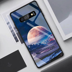 Tempered Glass Case For Samsung Galaxy S10 S9 S8 Plus S10e A7 2018 Note 9 8 10 Pro A50 Shockproof Cover Star Space Gradient Case - Amzon World