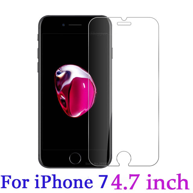 Tempered Glass For iPhone XS XR XS MAX Screen Protector Cover For iPhone 8 X 7 6 6S Plus 5 5S SE XS 6.1 6.5 5.8 inch 2019 - Amzon World