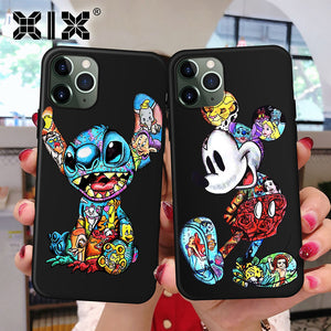 XIX for Funda iPhone 11 Pro Case 5 5S 6 6S 7 8 Plus X XS Max Tattoo Cartoon for Cover iPhone 7 Case Soft TPU for iPhone XR Case - Amzon World