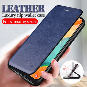 leather flip case For samsung Galaxy a10 a20 a30 a40 a50 a70 s8 s9 s10 note 10 plus s20 Ultra a51 a71 wallet cover coque fundas - Amzon World