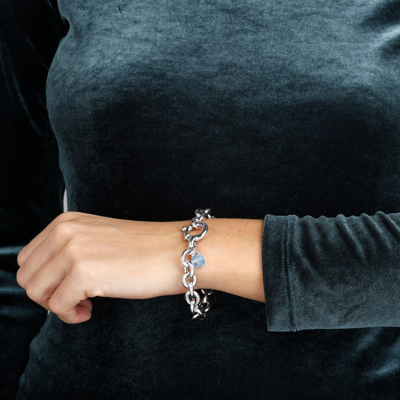 worn SUCH A PERFECT DAY MYESSENTIALS BIANCA MILANO ROLò BRACELET W/ BOLD SPRING RING CLASP - WSBC00132