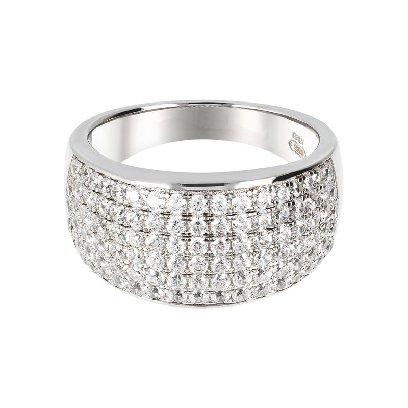 Band Ring Studded with CZ setting