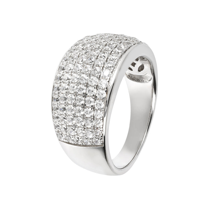 Band Ring Studded with CZ