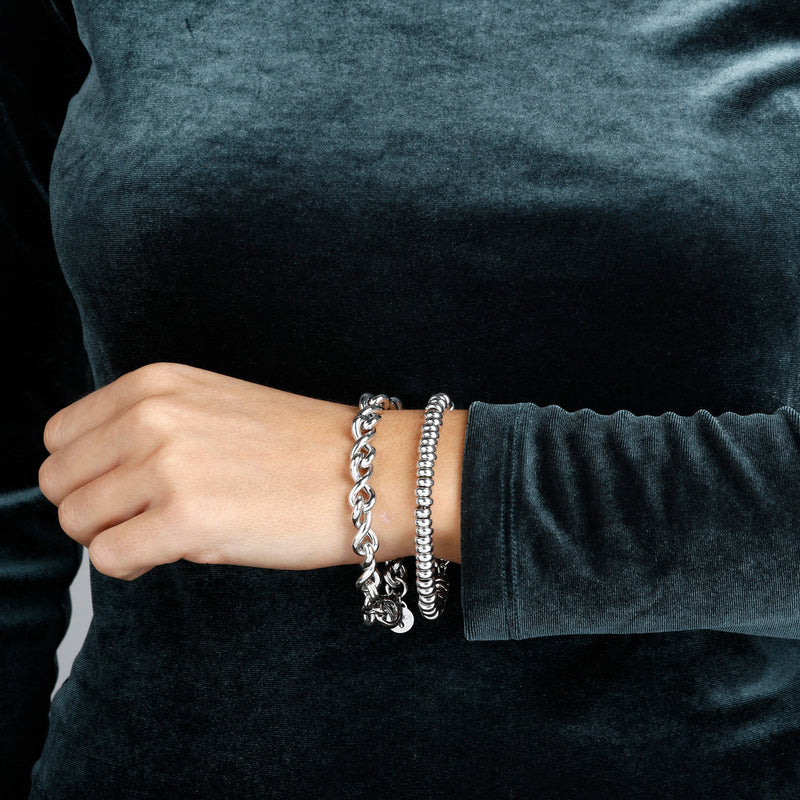 worn SUCH A PERFECT DAY MYESSENTIALS BIANCA MILANO ROUNDEL BRACELET W/ CHARM DANGLE BEAD - WSBC00122