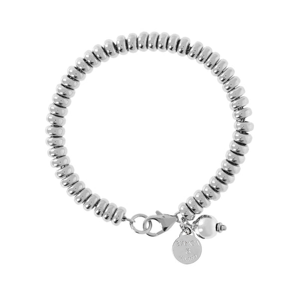 SUCH A PERFECT DAY MYESSENTIALS BIANCA MILANO ROUNDEL BRACELET W/ CHARM DANGLE BEAD - WSBC00122