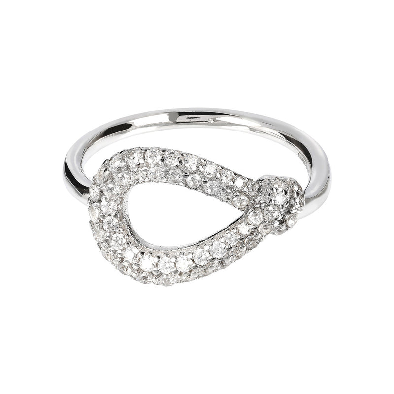 ONCE UPON A TIME WHITE DREAM  KNOT RING W/ CZ GEMSTONE - WSBC00018 setting