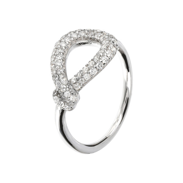ONCE UPON A TIME WHITE DREAM  KNOT RING W/ CZ GEMSTONE - WSBC00018