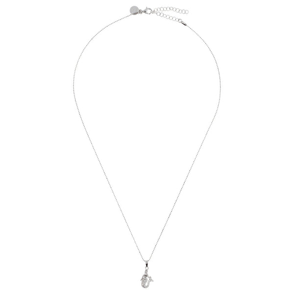 ONCE UPON A TIME WHITE DREAM SHINY/DC NECKLACE W/ CZ GEMSTONE mermaid PENDANT - WSBC00045 from above
