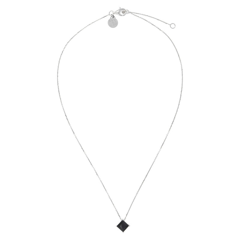 SPICE IT UP GLAMLINE SHINY/DC BLACK SPINEL GEMSTONES NECKLACE - WSBC00206 from above